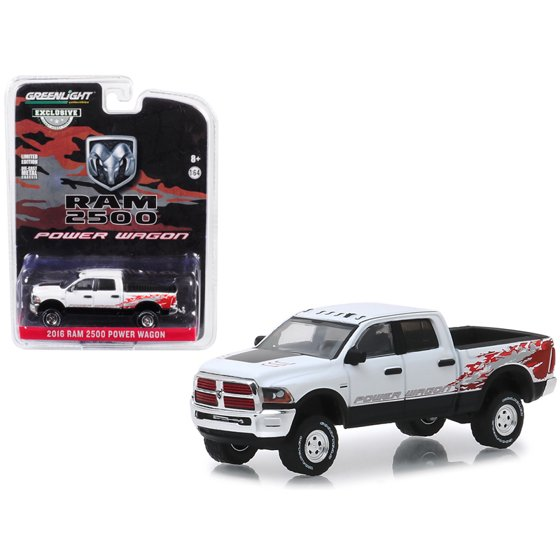Dodge 2016 Truck >> 2016 Dodge Ram 2500 Power Wagon Pickup Truck Bright White Clearcoat Hobby Exclusive 1 64 Diecast Car By Greenlight