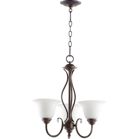 Chandeliers 3 Light With Oiled Bronze Finish Medium Base Bulbs 20 inch 180 Watts 3 Oiled Bronze Finish