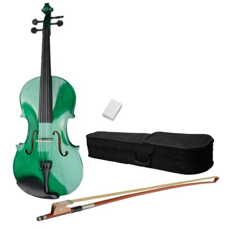 Ktaxon 15 inch Acoustic Viola with Case, Bow, Rosin for Beginners Viola Starter Kit Green