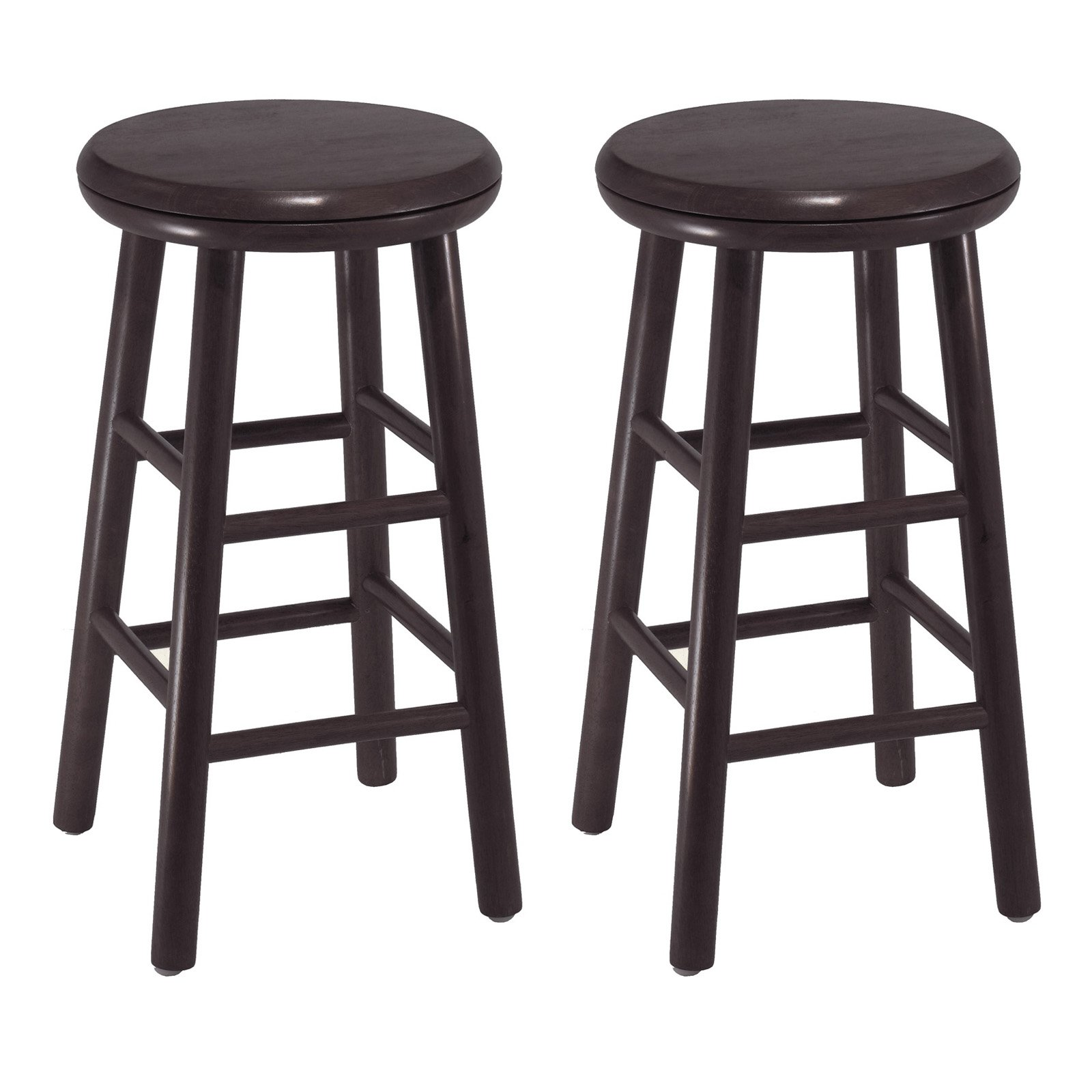 Winsome Wood Oakley Swivel Counter Stools Set Of 2 Multiple Finish