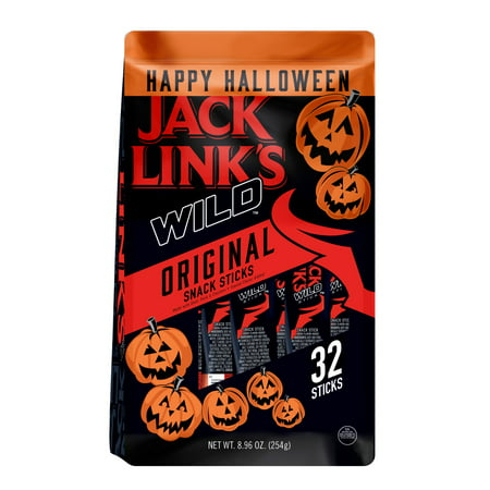 Jack Link's Wild Halloween Snack Sticks, Original, 32 Ct - Halloween Snacks To Make At School