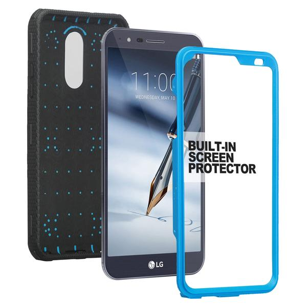 LG Stylo 4 Case, Rugged Series with Built-in [Screen Protector] Heavy Duty Full-Body Rugged Holster Armor Case [Belt Swivel Clip][Kickstand] (Blue) - image 5 de 6
