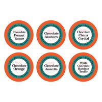 Smart Sips Coffee Chocolate Obsession Flavored Single Serve Coffee Pods Variety Sampler Pack, 24 Count, Compatible With All Keurig K-cup Machines