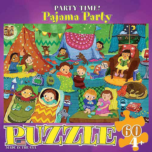 EuroGraphics Pajama Party Party Time 60-Piece Puzzle