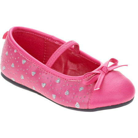Healthtex - Toddler Girl s Heart Cut-Out Canvas Ballet Flat ... 127438b5a9c