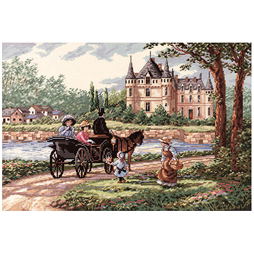 dimensions needlecrafts counted cross stitch, m lady's chateau