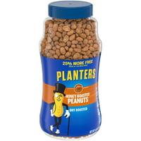 Planters Dry Roasted Honey Roasted Peanuts, 20 oz Jar