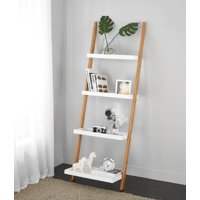 Mainstay Bamboo Collection Ladder Bookcase (White)