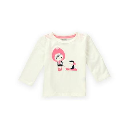Gymboree Girls Penguin Sled Embellished T Shirt