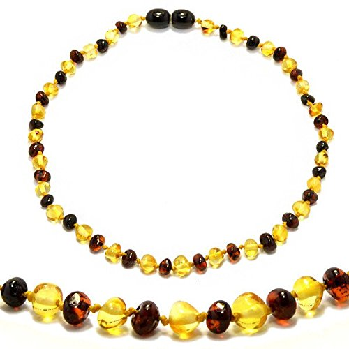 The Art of Cure Original Premium Baltic Amber Teething Necklace 12.5 inches (CHERRY 1X1)