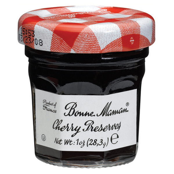 Bonne Maman Cherry Preserves 1 oz Jars Pack of 15 by