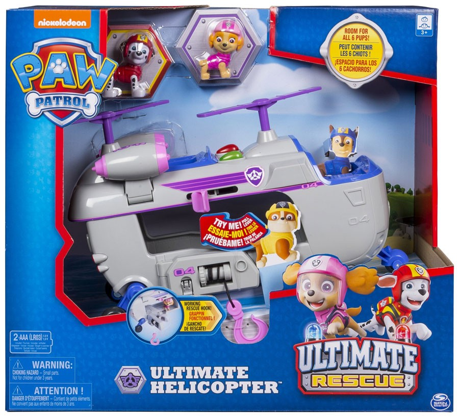 Paw Patrol Ultimate Rescue Ultimate Helicopter Vehicle Playset by