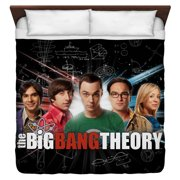 Big Bang Theory Group Spark King Duvet Cover White 104X88