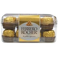Ferrero Rocher Fine Hazelnut Chocolates, 7 Oz., 16 Count Milk Chocolate Candy