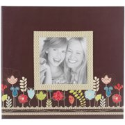 "Pioneer Designer Printed Raised Frame Post Bound Album 8""X8""-Garden"