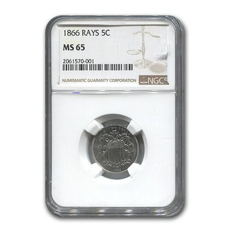 1866 Shield Nickel w/Rays MS-65 NGC (1866 Shield)