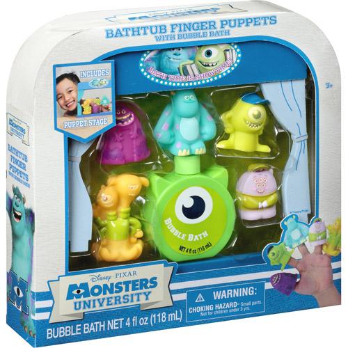 Disney Pixar Monsters University Bathtub Finger Puppets with Bubble Bath, 7 pc