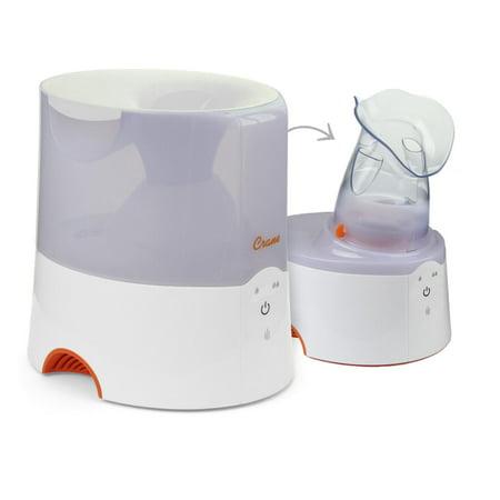 Crane Classic 2 in 1 Warm Mist Humidifier & Steam Inhaler - White