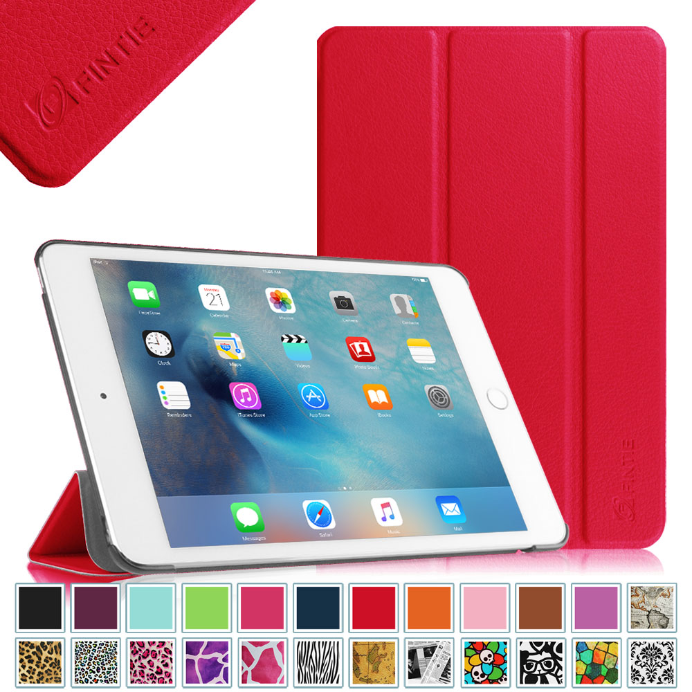 Fintie Apple iPad mini 4 Case 2015 Release - Lightweight Stand Cover with Auto Sleep/Wake, Red