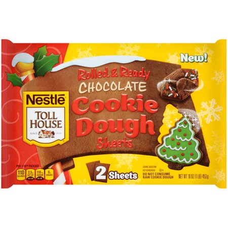 Nestle Toll House Rolled Ready Chocolate Cookie Dough Sheets 16