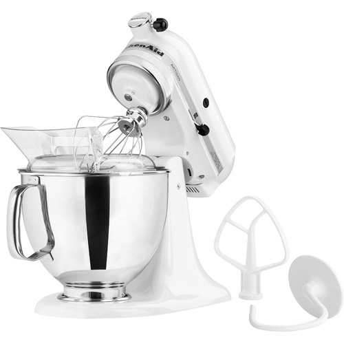KitchenAid Artisan Series 5 Quart Tilt Head Stand Mixer, White (KSM150PSWH)  Image