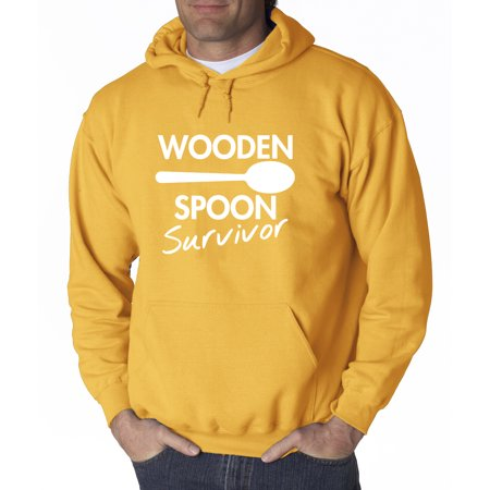 New Way 809 - Adult Hoodie Wooden Spoon Survivor Discipline Funny Humor Sweatshirt 4XL Gold