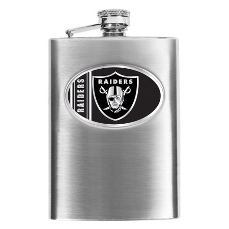 Oakland Raiders Stainless Steel Flask - No Size