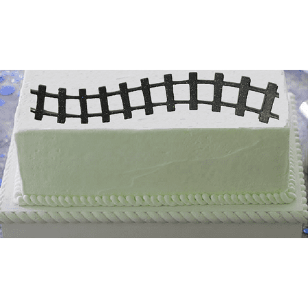 2pack Train Tracks Paper Layon Cake Decoration