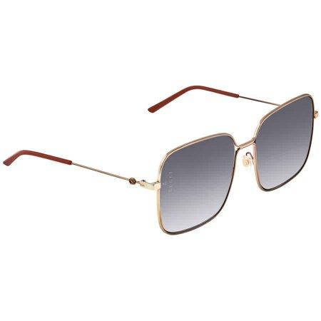 Gucci Blue Gradient Square Sunglasses GG0443S 001 60