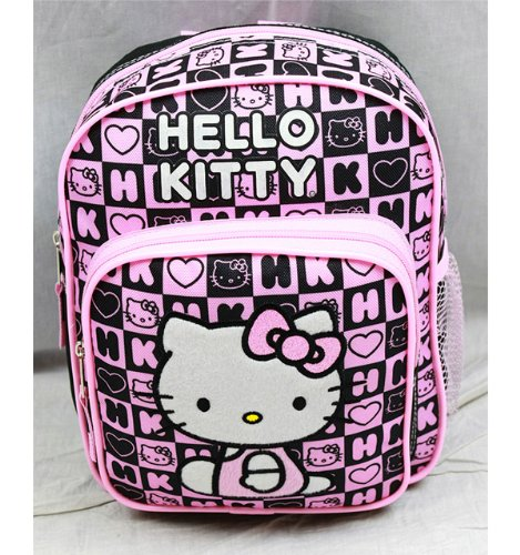 Mini Backpack - Hello Kitty - Black Box Checker New School Bag 82360