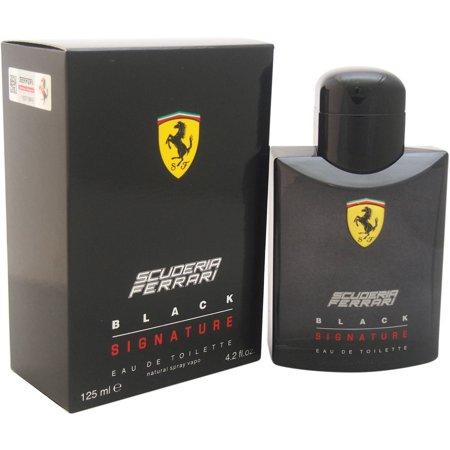 Ferrari Scuderia Black Signature Mens Edt Spray  4 2 Fl Oz