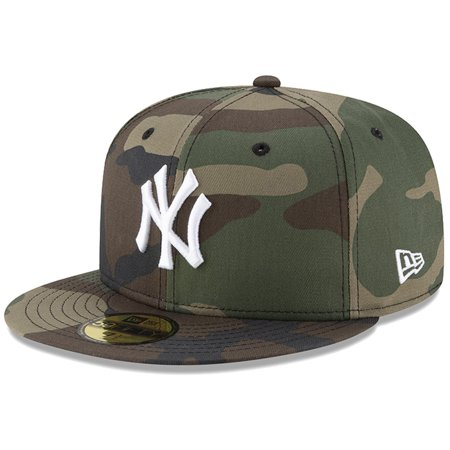New York Yankees New Era Woodland Camo Basic 59FIFTY Fitted Hat - Camo