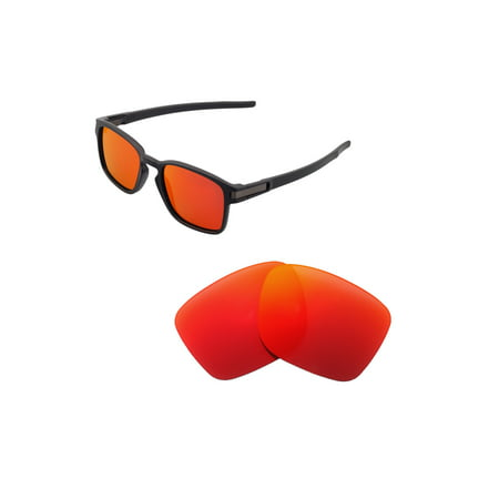 Walleva Fire Red Polarized Replacement Lenses for Oakley Latch SQ Sunglasses