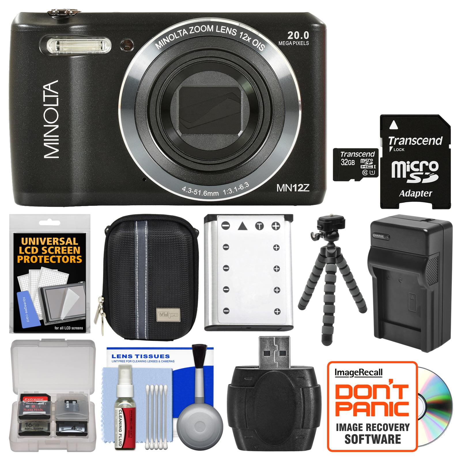 Konica Minolta MN12Z OIS 12x Zoom Wi-Fi Digital Camera (B...