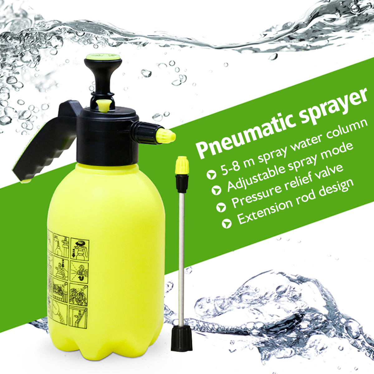 Sprayer Master 2.0, Pathonor Multi-Purpose Sprayer for Killing Weeds and Insects and Cleaning(2L/0.5 Gallon)