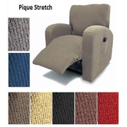 Orly's Dream Pique Stretch Fit Furniture Chair Recliner Lazy Boy Cover Slipcover Many Colors Available (Taupe)