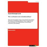 Wer verhindert den Schuldenabbau? - eBook