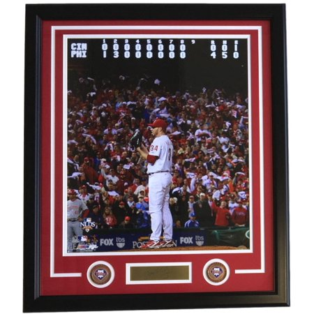 Roy Halladay Framed 16X20 Phillies No Hitter Photo With Laser Engraved Signature