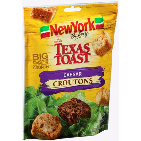 (2 Pack) New York Brand The Original Texas Toast Caesar Croutons, 5 oz