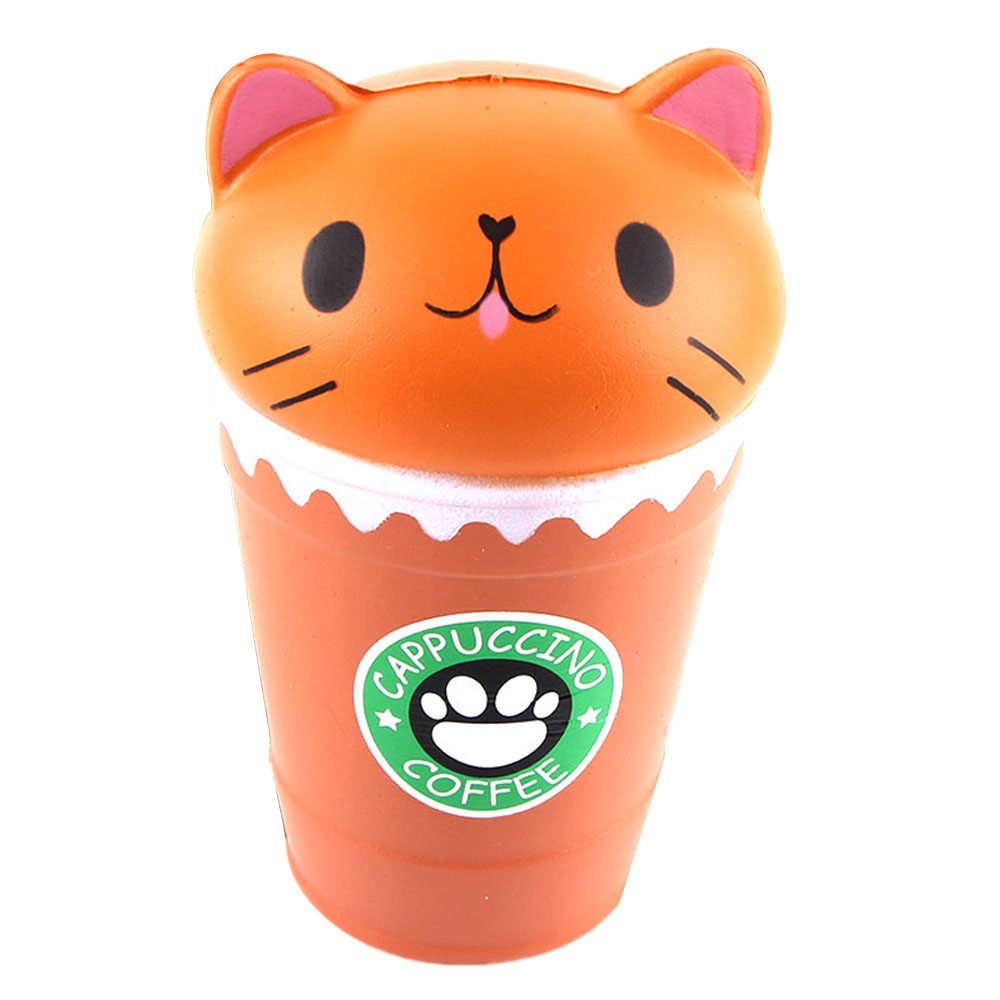 Cut Coffee Cup Cat Scented Slow Rising Toy Collection Gift