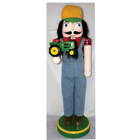 Santa's Workshop Farmer with JD Tractor