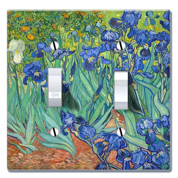 Wirester 2 Gang Toggle Wall Plate Switch Plate Cover Irises Vincent Van Gogh Walmart Com Walmart Com