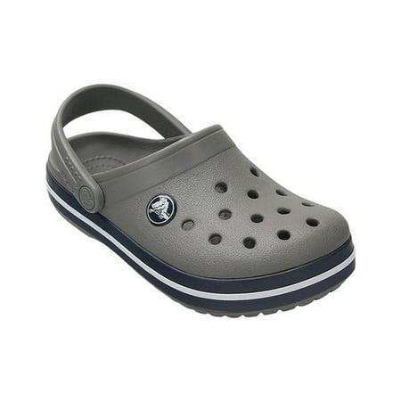 f7124a12912211 Crocs - Crocs Boy s Crocband Smoke Navy Ankle-High Flat Shoe - 9M -  Walmart.com