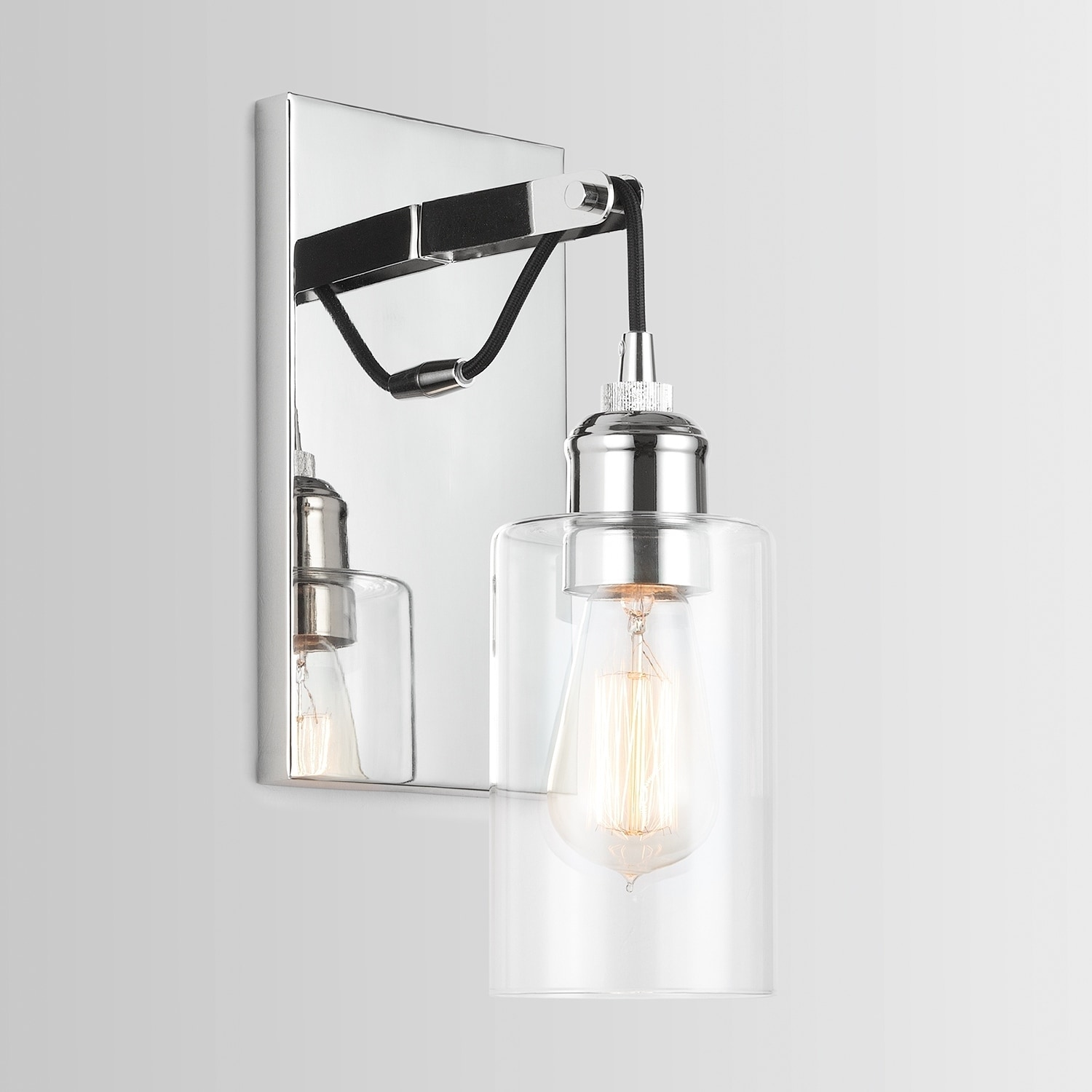 Austin Allen Company 1 Light Polished Nickel Wall Sconce Polished Nickel Polished Nickel Walmart Com Walmart Com