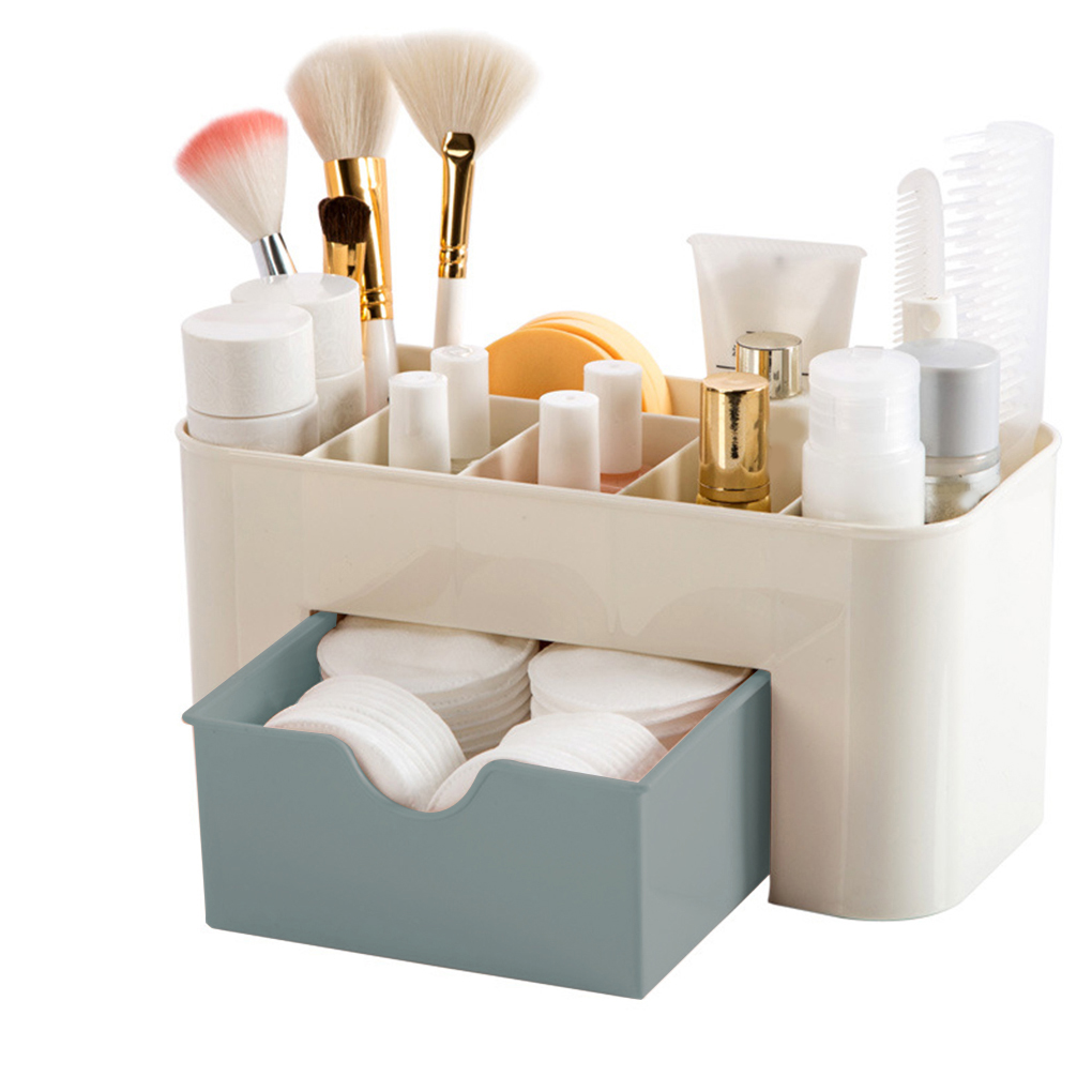 Mini Makeup Storage Box Cosmetics Case Lipstick Small Box Desktop Organizer Jewelry Container Holder