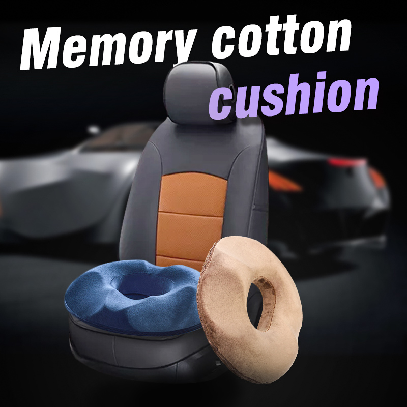 """16""""x17"""" Comfortable Memory Cotton Ring Donut Cushion Foam Seat Cushion for Travel Office Chair Car"""