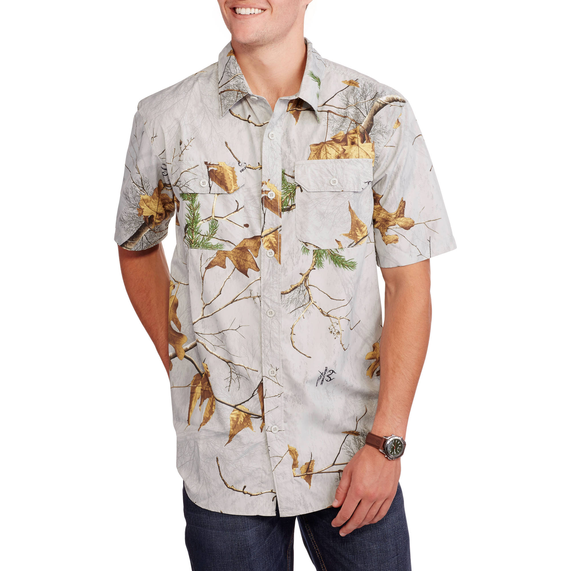 Big Men's Performance Short Sleeve Woven Shirt, 2XL