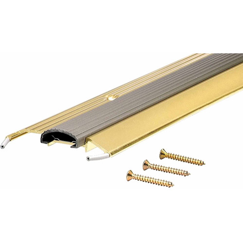 "M-D Products 09043 36"" Bright Gold Low Boy Thresholds with Vinyl Seal Aluminum"