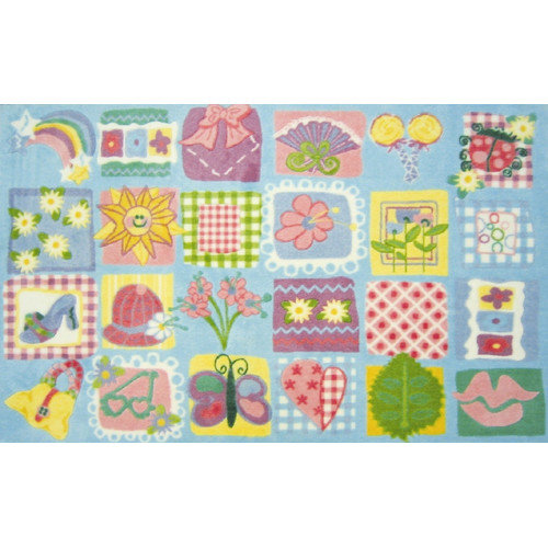 Fun Rugs Supreme Funky Patchwork Girls Area Rug