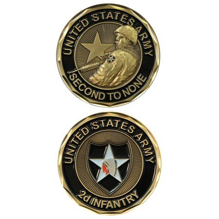 Infantry Division Challenge Coin (2nd Infantry 1-1/8 Inch Challenge Coin )